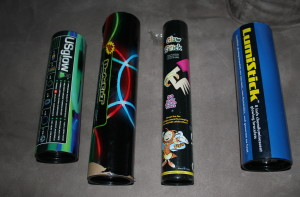 Glow Stick Containers